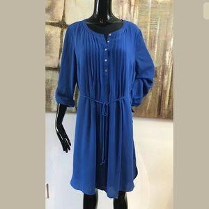 Daniel Rainn Pleat Top Dress Tie Waist Size XL